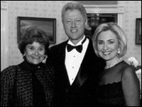 Louise with Bill and Hillary Clinton