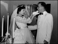 Louise and Bob on Their Wedding Day
